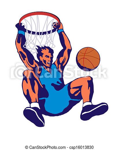 Basketball Player Dunking - csp16013830