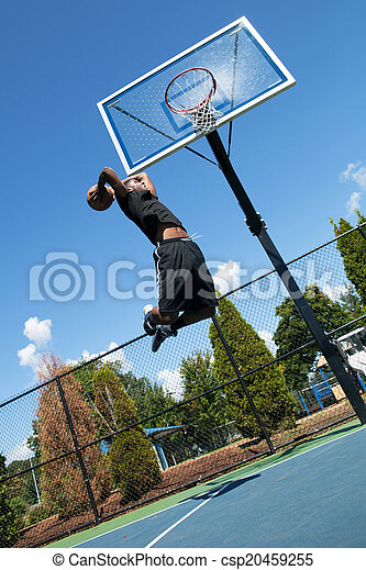 Basketball Player Dunking - csp20459255