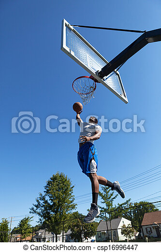 Basketball Player Dunking - csp16996447
