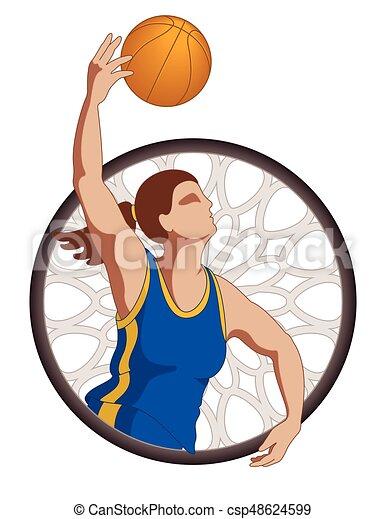 basketball player female - csp48624599