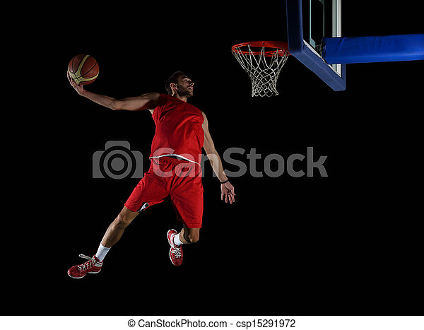 basketball player in action - csp15291972