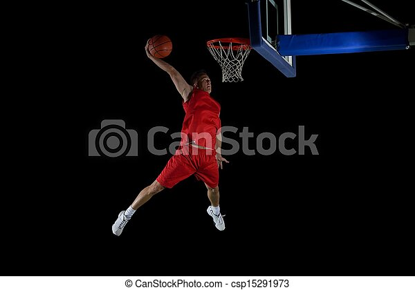 basketball player in action - csp15291973