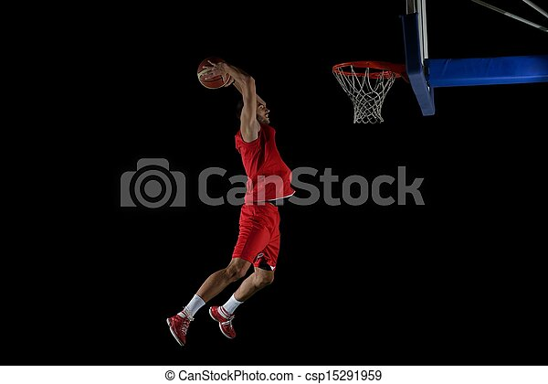 basketball player in action - csp15291959