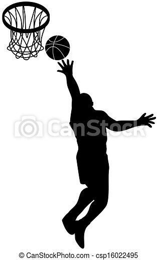 Basketball Player Lay-up Ball Shield - csp16022495