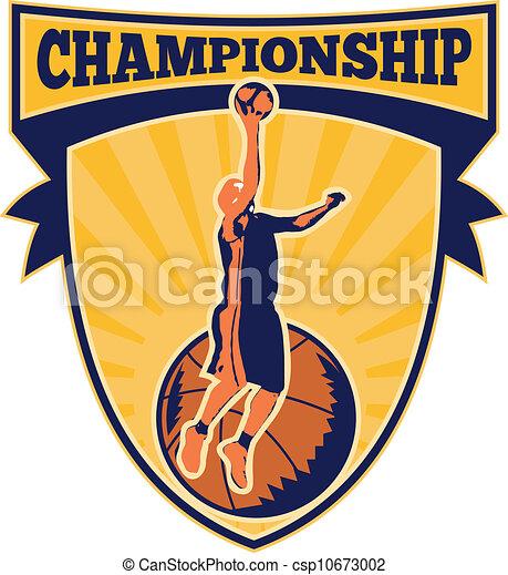 Basketball Player Lay-up Ball Shield - csp10673002