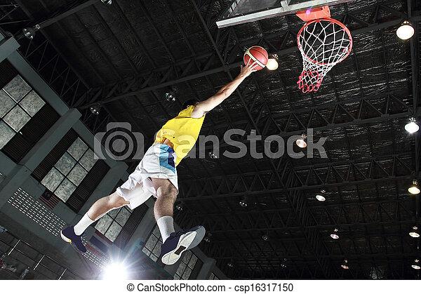 Basketball player layup for score  - csp16317150