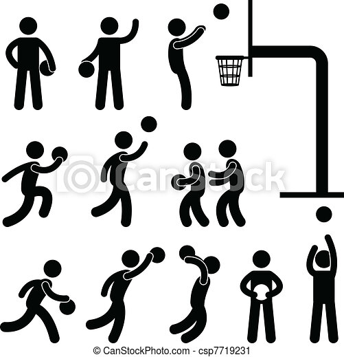 Basketball Player People Icon Sign - csp7719231