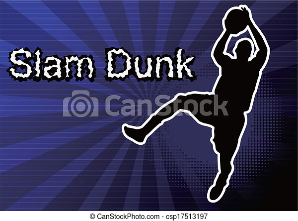 basketball player Silhouette - csp17513197