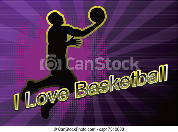 basketball player Silhouette - csp17510633