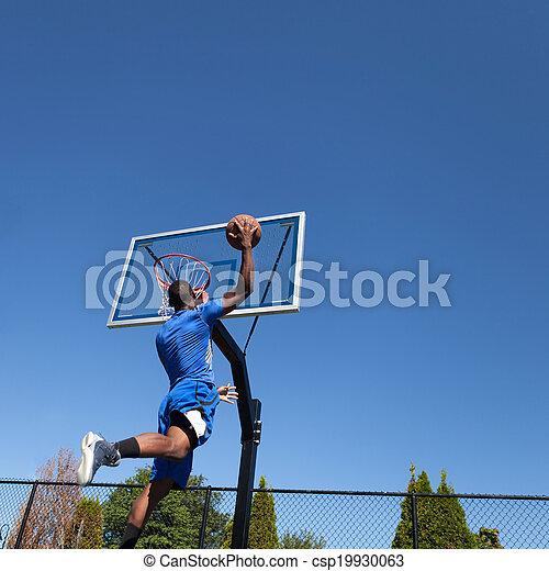 Basketball Player Slam Dunking - csp19930063