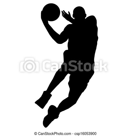 basketball player with ball vector clipart search illustration rh canstockphoto com basketball player victory from tacoma academy basketball player victor jackson