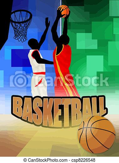 basketball players - csp8226548