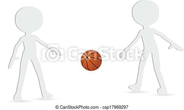basketball players silhouette collection - csp17969297