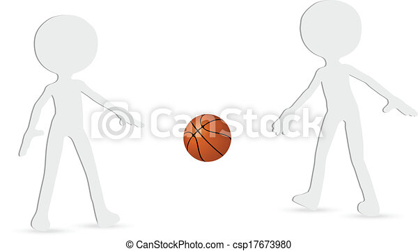 basketball players silhouette collection - csp17673980