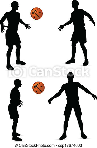 basketball players silhouette collection - csp17674003