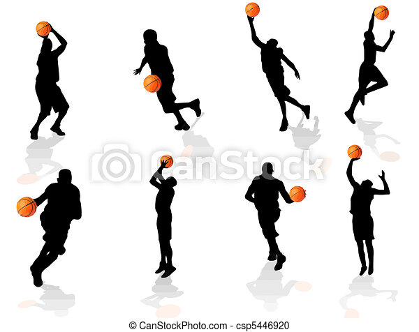 basketball players silhouette - csp5446920
