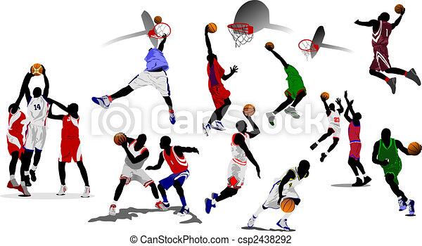 Basketball players. Vector illustration - csp2438292