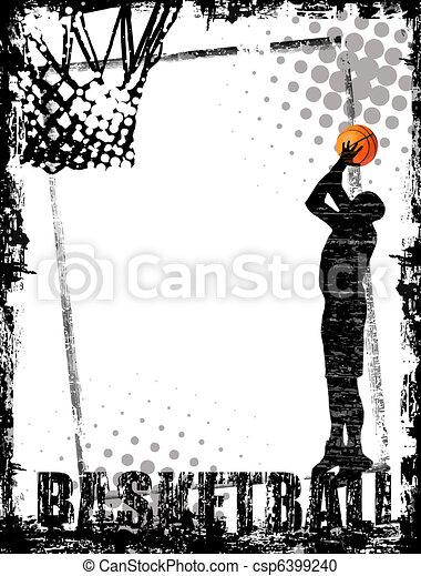 basketball poster - csp6399240