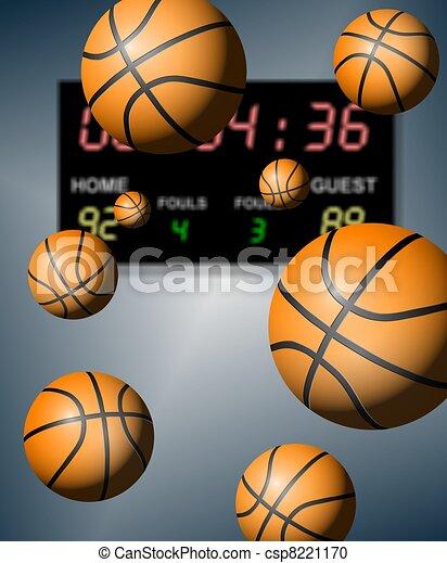 Basketball score - csp8221170