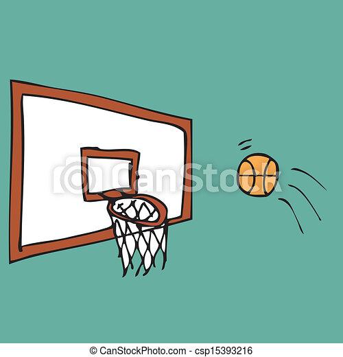Basketball score shot - csp15393216
