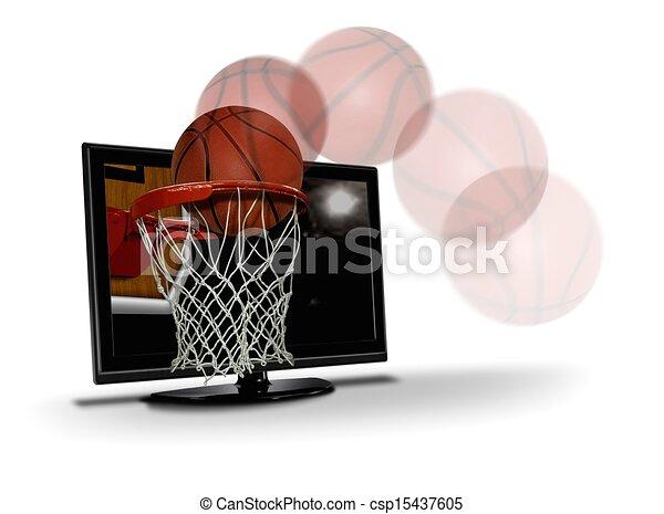 basketball shoot to LCD - csp15437605