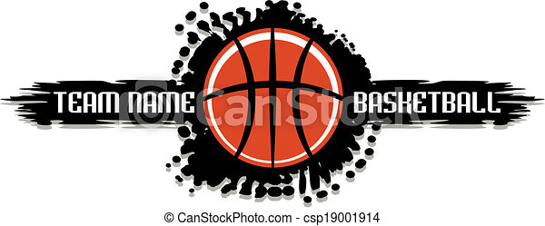 basketball splatter design - csp19001914
