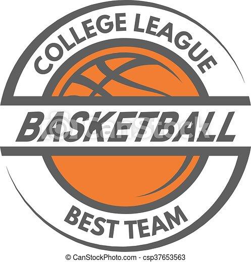 Basketball template. Logo, badge, emblem. - csp37653563