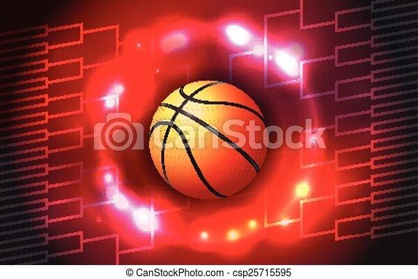 Basketball Tournament Bracket - csp25715595