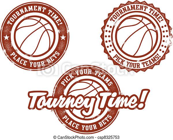 Basketball Tournament Stamps - csp8325753