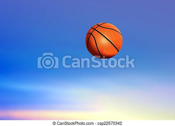 Basketball under Blue Sky - csp22570342