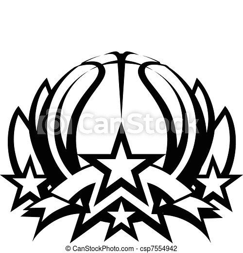 Basketball Vector Graphic Template - csp7554942