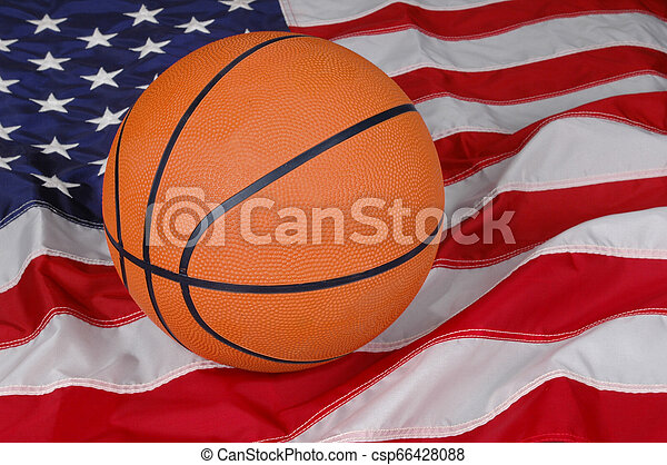 Basketball with American Flag - csp66428088