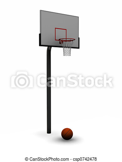 Basketball with net - csp0742478