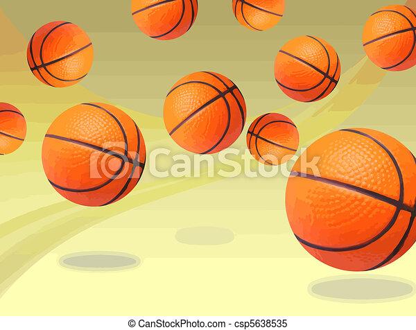 Basketballs bouncing - csp5638535