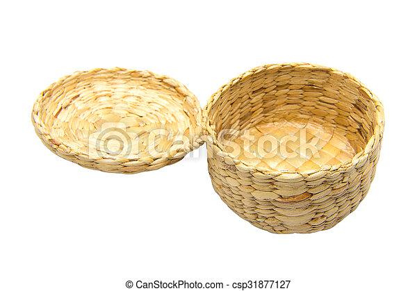 Baskets made ??of water hyacinth - csp31877127