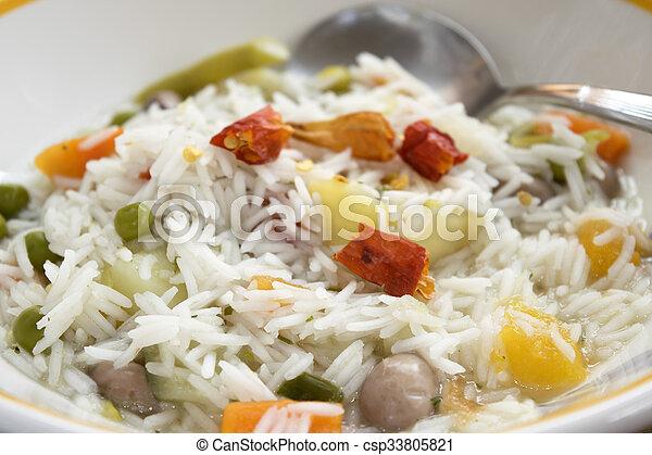 basmati, légume, minestrone, ricewith - csp33805821