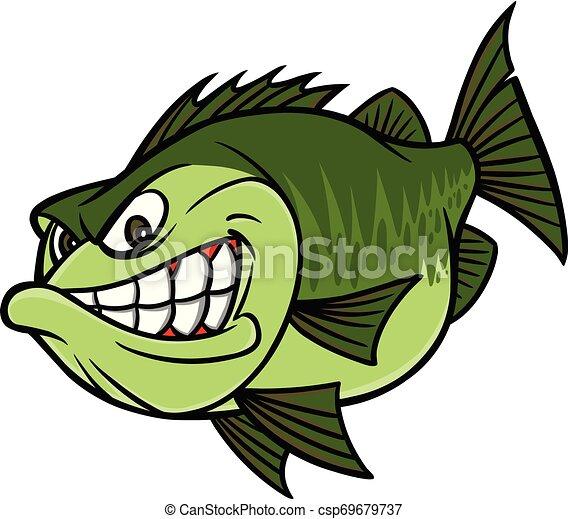 Bass Fishing Mascot A Cartoon Illustration Of A Bass Mascot