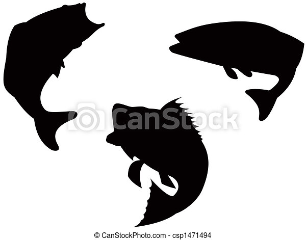 Bass Silhouette Stock Illustration
