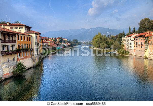 Bassano del Grappa Brenta river - csp5659485