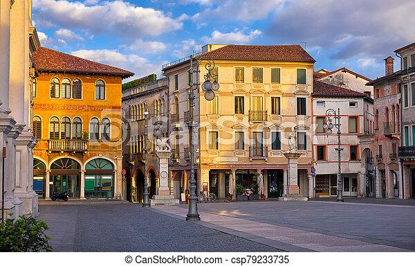Bassano del grappa Italy. Square freedom. Landscape - csp79233735