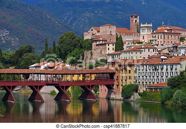 Bassano del Grappa Ponte Vecchio - csp41887817