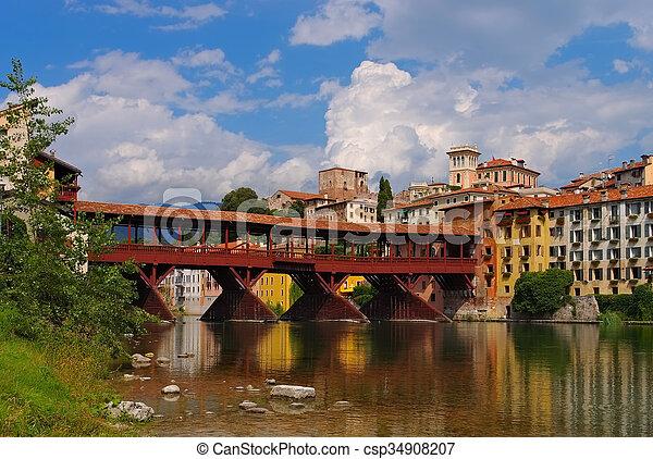 Bassano del Grappa Ponte Vecchio - csp34908207