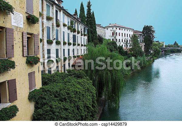 Bassano del Grappa village italy - csp14429879