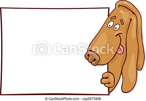 Basset dog with card - csp5973408