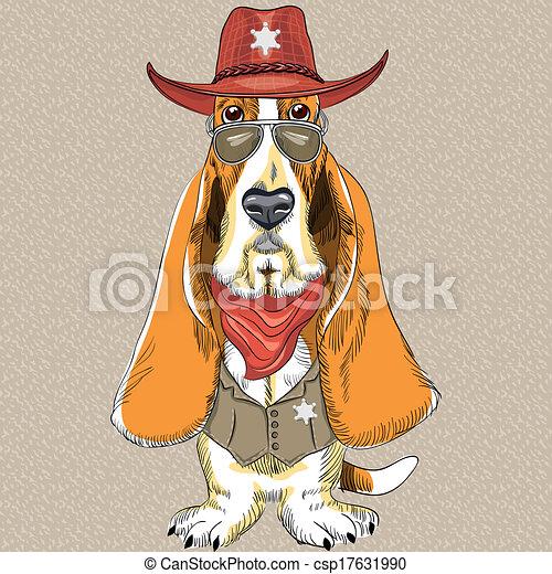 Bassotto divertente cane vettore hipster cane da caccia