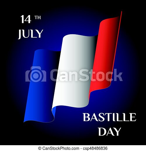 Bastille day greeting card with the national flag of vectors bastille day csp48486836 m4hsunfo