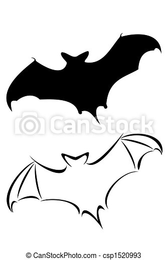 bat a black tribal bat tattoo set