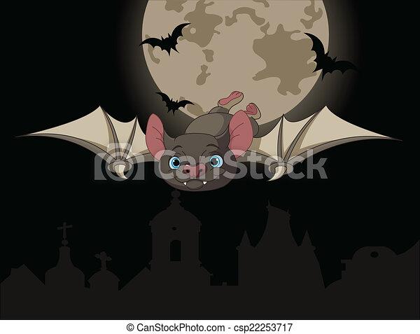 Bat in flight - csp22253717