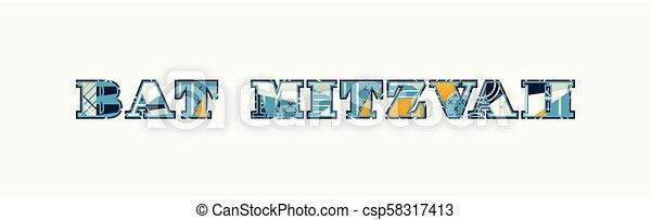 Bat Mitzvah Concept Word Art Illustration - csp58317413
