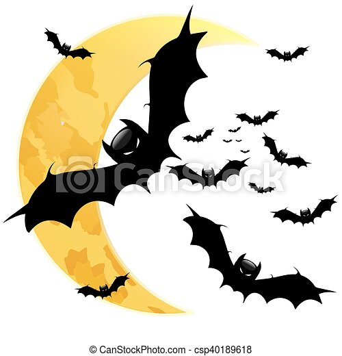BAt on the background of the moon - csp40189618